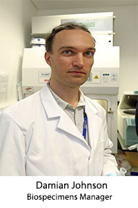 Damian Johnson - Biospecimens Manager